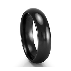 Black Titanium Classic Comfort Fit Band Ring