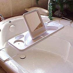 Perfect Bathtub Caddy Mirror Book Holder