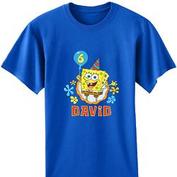 Personalized SpongeBob Birthday T-Shirt