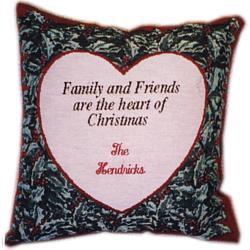 Personalized Christmas Heart Pillow