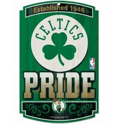 Boston Celtics Wood Sign