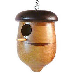 Wood Acorn Birdhouse