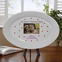 Personalized Loving You Porcelain Keepsake Photo Platter