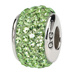 Sterling Silver Swarovski Crystal August Birthstone Charm