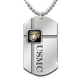 For My Marine Dog Tag Necklace