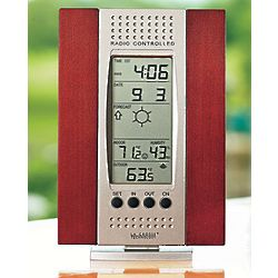 Wireless Weather Station and Clock with Remote Sensor
