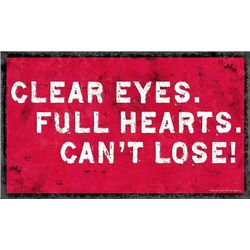 Friday Night Lights Lions Clear Eyes Metal Sign