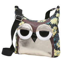 Sleepy-Eyes Owl Shoulder Bag