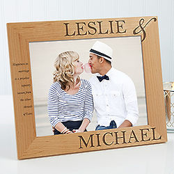 Perfect Couple Personalized 8x10 Picture Frame