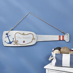 Personalized Oar Wall Hanging