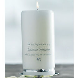 Gold or Silver Banding Wedding Memorial Candle