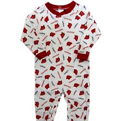 Newborn's Wisconsin Badgers Footed Coverall