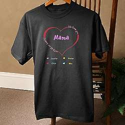 Lady's Personalized All Our Hearts T-Shirt