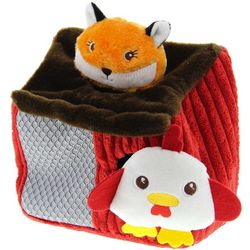Fox and Chicken Coop Dog Toy