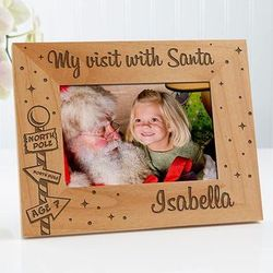 Santa and Me 4x6 Personalized Frame