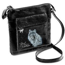 Spirit of the Wilderness Wolf Art Crossbody Bag