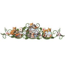 Curious Kittens Wall Decor Porcelain Plaques