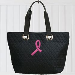 Pink Ribbon Quilted Bag