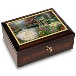 Thomas Kinkade Personalized Music Box for Granddaughter