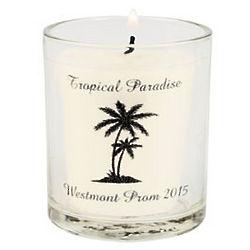 Personalized Palm Tree Luau Votive Holders
