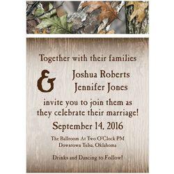 Personalized Camo Wedding Invitations