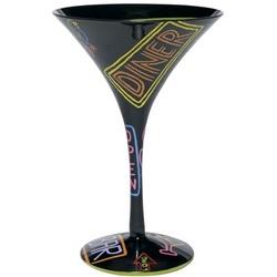 Neon-tini Martini Glass