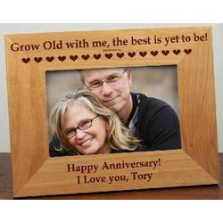 Grow Old with Me Personalized Frame