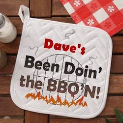Been Doin' BBQ'n Personalized Grilling Potholder