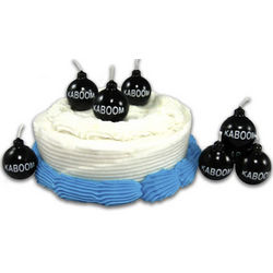 Kaboom Cartoon Bomb Birthday Candles
