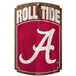 Alabama Crimson Tide Wood Sign