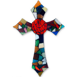Fire of Faith Stained Glass Cross