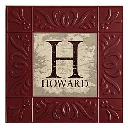 Personalized Embossed Metal Tile