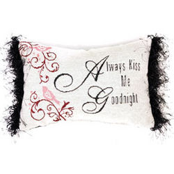 Always Kiss Me Goodnight Word Pillow