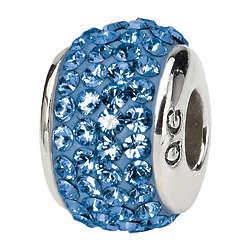 Sterling Silver Swarovski Crystal September Birthstone Charm