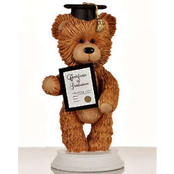 Graduation Bear Figurine Christmas Ornament