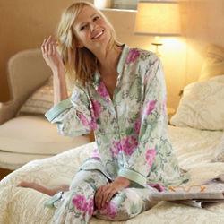 Geisha Floral Print Pajamas