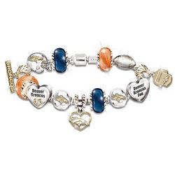 Go Broncos Number 1 Fan Charm Bracelet