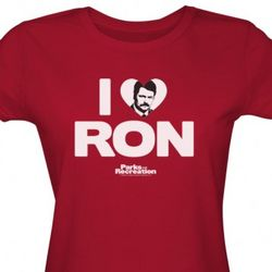 Parks and Recreation I Heart Ron Swanson T-Shirt