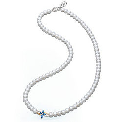 The Trinity Sapphire and Diamond Pearl Necklace