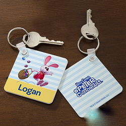 Personalized Peter Cottontail Easter Key Ring