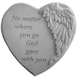 No Matter Where You Go Winged Heart Stepping Stone