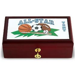 Personalized All Star Sports Keepsake Box