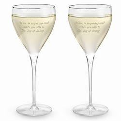 Savoy Platinum Rim Wine Glass Set