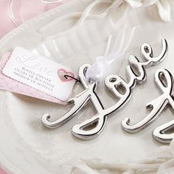 Love Script Metal Bottle Opener Favors