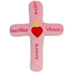 My First Pink Plush Cross
