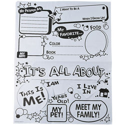 Color Your Own All About Me Flip Posters