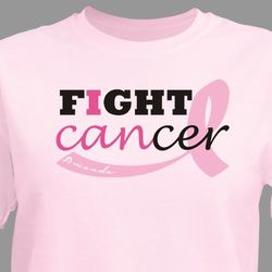 Personalized Fight Cancer Ribbon Awareness T-Shirt
