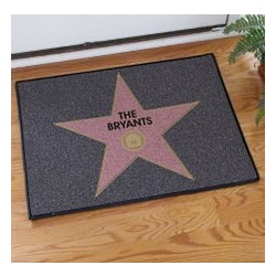 Walk of Fame Personalized Welcome Doormat