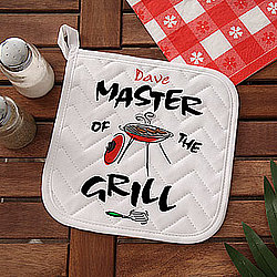 Personalized Master of the Grill Potholder