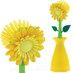 Flower Kitchen Brush & Holder